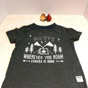 """Roots """"Canada is home"""" t- shirt"""
